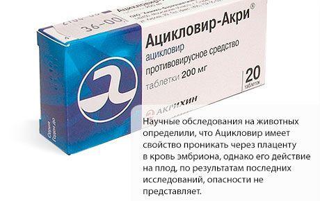 Ацикловир при беременности : инструкция по применению